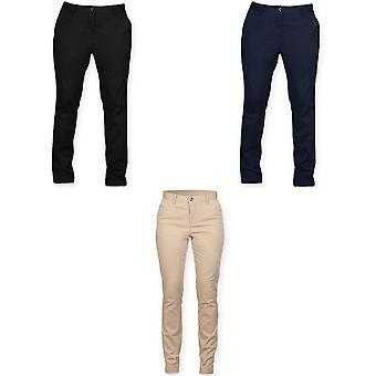 Front Row Womens/Ladies Cotton Rich Stretch Chino Trousers