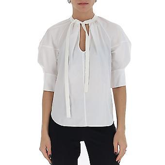Chloé Chc20uht45041101 Women's White Cotton Blouse