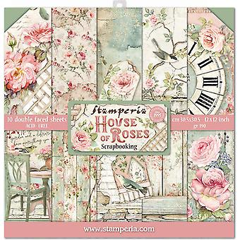 Stamperia House of Roses 12x12 Tums Papper Pack