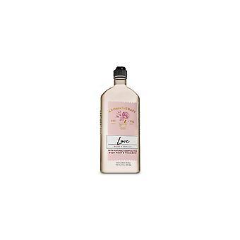 (2 Pack) Bath & Body Works Aromatherapy Rose Vanilla Body Wash & Foam Bath 10 fl oz / 295 ml