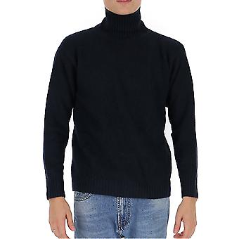 Laneus Mgu557cc3blublack Men's Blue Wool Sweater