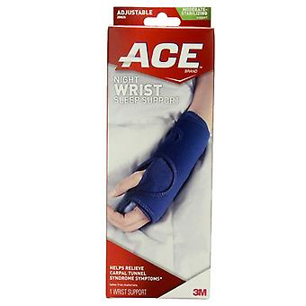 3m ace brand night wrist sleep support, moderate, adjustable, 1 ea