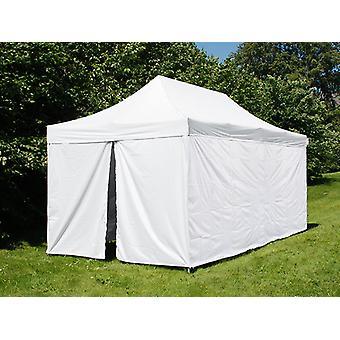 Tente pliante FleXtents® PRO, tente médicale et d'urgence, 3x6m, Blanc, 6 parois latérales incluses