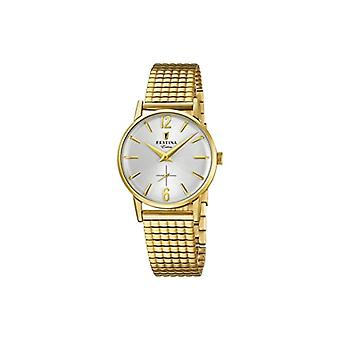 Festina ladies analogue watch with metal plated stainless steel F20257/1