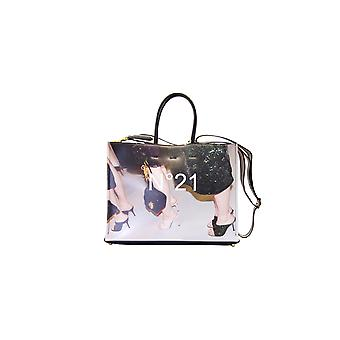 N°21 Shoppingprint Women's Multicolor Leather Tote