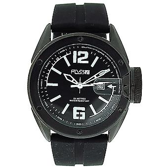 Fly53.06 Gents Analogue Date Black Silicone Strap Black Dial Sports Watch