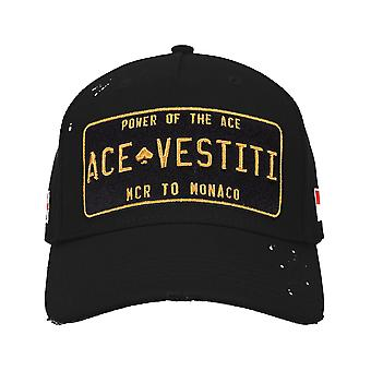 Ace Vestiti Paint Splatt Plated Baseball Cap - Black/Gold-One Size