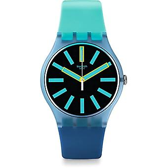 Swatch quartz Digital ur med sort silikone band _ SUOS105
