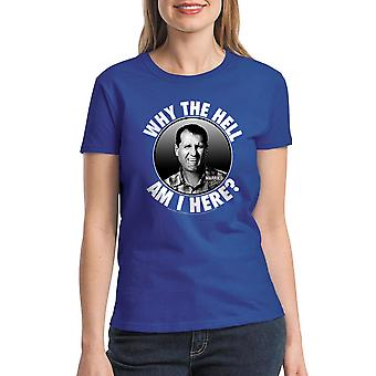 Married With Children Why Am I Here Women's Royal Blue T-shirt