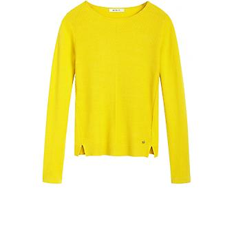 Sandwich Clothing Yellow Ribbed Front Jumper