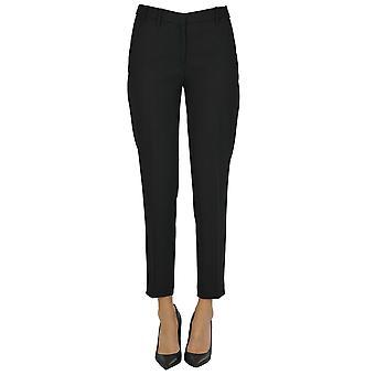 Pantalon en polyester noir Ezgl068194