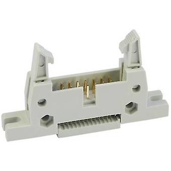 econ koble WS16SKVL Pin strip + lang lås, + hylse Kontaktavstand: 2,54 mm Totalt antall pinner: 16 Nei. av rader: 2 1 stk(er) skuff