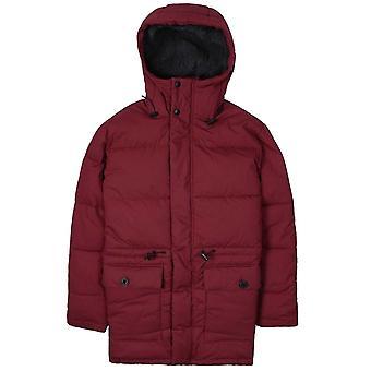 Edwin Maroon Padded Street Parka Jacket