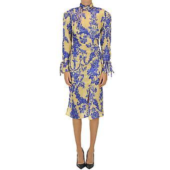 Acne Studios Ezgl151055 Women's Multicolor Silk Dress