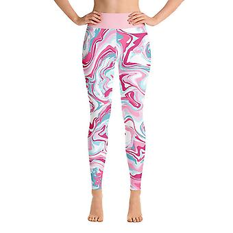 Leggings de treino | Leggings de Yoga | Fantasia | Mármore Rosa