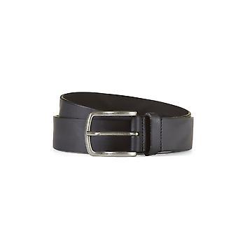 Leather belt davis black