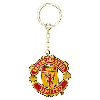 Manchester United FC officiel Football métal Crest Keyring