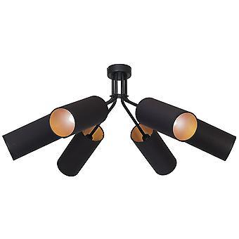 Columba Pendentif Lampe Noir Couleur métal, tissu, L75xP75xA30 cm