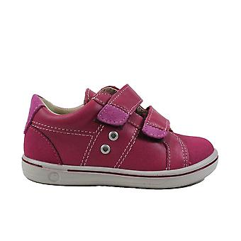 Ricosta Nippy 2623000-332 Pink Leather Girls Rip Tape Casual Shoes