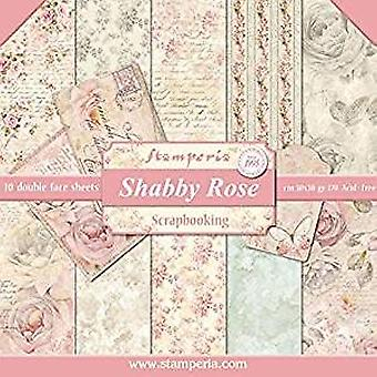 Stamperia Shabby Rose 12x12 Inch Paper Pack