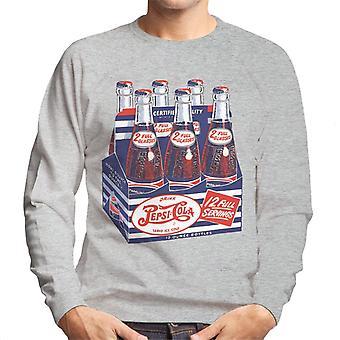 Pepsi Cola Rétro Bouteille Crate Men-apos;s Sweatshirt