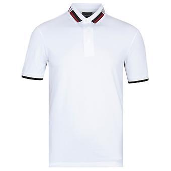 Emporio Armani White Twin Tipped Polo Shirt