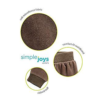Simple Joys by Carter's Boys' 4-Pack Fleece Pants, Gray/Navy/Brown/Bear Print...