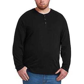 Essentials Men & apos&s Big & Tall طويل الأكمام قميص هنلي قميص, -أسود, 2XLT