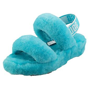 UGG Oh Yeah Womens Slippers Sandals in Sky Blue