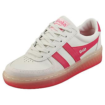 Gola Grandslam 89 Womens Fashion Trainers em Off White Pink