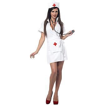 Mode infirmière hôpital gommage uniforme rôle Play Womens Costume & stéthoscope