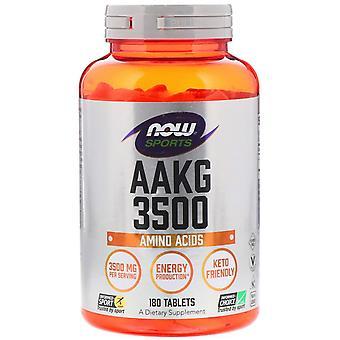 Nu voedingsmiddelen, sport, AAKG 3500, aminozuren, 180 tabletten