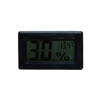 Mini Elektronisches Thermometer Display Wecker Schwarz