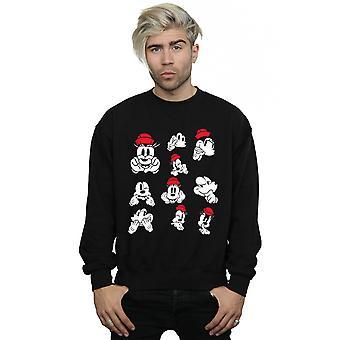 Disney Men's Minnie Mickey Photo Poses Sweatshirt