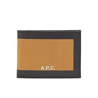 A.p.c. Ezcr056001 Men's Brown Leather Wallet