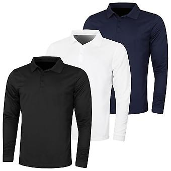 Proquip Mens 2020 Performance à manches longues Pique UV Protect Wicking Polo