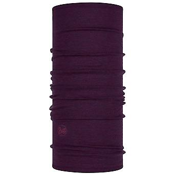 Buff Midweight Merino Wool Neck Warmer in Purplish Melange