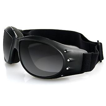 Balboa BCA001 Black Frame Cruiser Goggle - Anti-Fog Smoked Lens