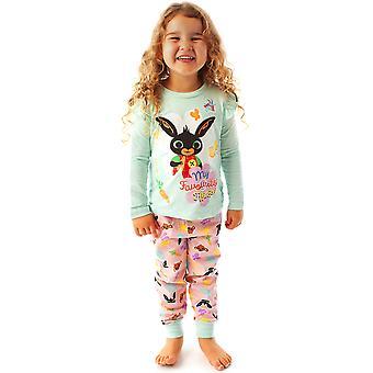 Bing Bunny & Sula Pyjamas &It's Bing Thing& Cbeebies Pitkähihainen Tytöt PJs