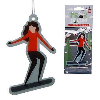 Snowboarding Mint Scented Air Freshener X 1 Pack