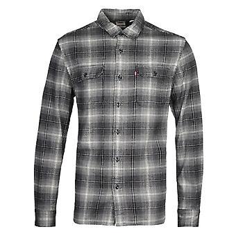 Levi's Jackson Worker Jet Black Herringbone Shirt