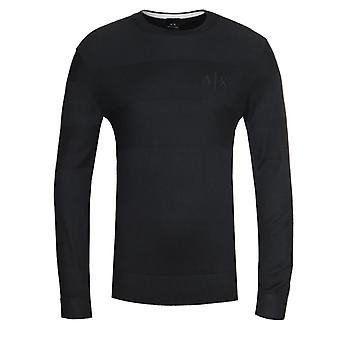 Armani Exchange Logo Crew Neck Black Sweater