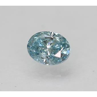Cert 0,28 Karat Himmel blau VS2 Oval enhanced natürliche lose Diamant 4,39x3,4 mm 2VG