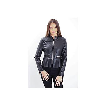 Rino & Pelle Prema Peplum Faux Leather Jacket