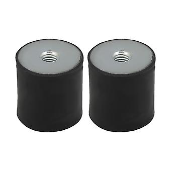 2x Rubber Shock Absorber 30x30MM Anti-shock M8 Thread Mount Isolator
