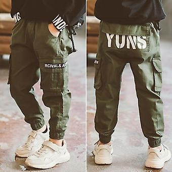 Boys Cargo Letters Autumn Kids Pants- Casual Kids Clothes Winter Teenage Boys Clothing For 4/6/8/12/14 Years