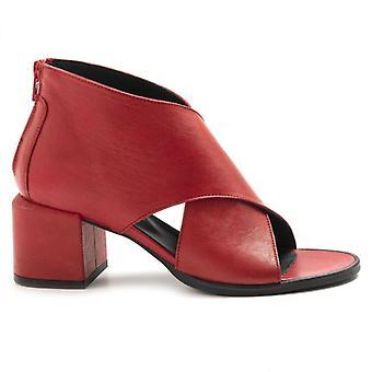 Sandal Le Bohemien Red Leather Tcco Medio