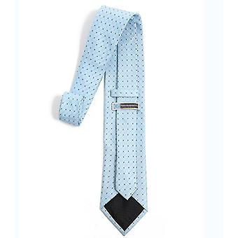 Mens Classic Solid Color Skinny Woven Slim Necktie