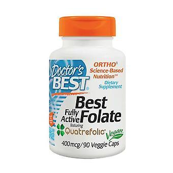 Täysin aktiivinen Folate 400 ja quatrefolic, 400mcg 90 kasviskapselia
