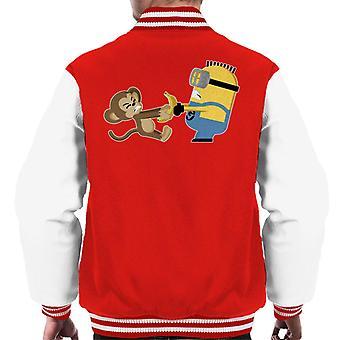 Despicable Me Minion Monkey Banana Battle Men's Varsity Jacket
